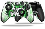 Cartoon Skull Green - Decal Style Skin fits Microsoft XBOX One ELITE Wireless Controller