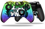 Cartoon Skull Rainbow - Decal Style Skin fits Microsoft XBOX One ELITE Wireless Controller