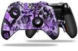 Scene Kid Sketches Purple - Decal Style Skin fits Microsoft XBOX One ELITE Wireless Controller