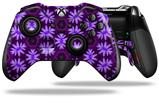 Abstract Floral Purple - Decal Style Skin fits Microsoft XBOX One ELITE Wireless Controller