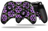 Floral Pattern Purple - Decal Style Skin fits Microsoft XBOX One ELITE Wireless Controller
