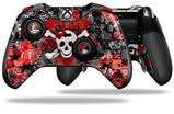 Emo Skull Bones - Decal Style Skin fits Microsoft XBOX One ELITE Wireless Controller