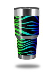 Skin Decal Wrap for RTIC Tumbler 30 oz Rainbow Zebra (TUMBLER NOT INCLUDED)