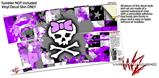Skin Decal Wrap for RTIC Tumbler 30 oz Purple Princess Skull (TUMBLER NOT INCLUDED)