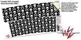 Skin Decal Wrap for RTIC Tumbler 30 oz Skull and Crossbones Pattern (TUMBLER NOT INCLUDED)