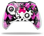 Skin Wrap for Microsoft XBOX One S / X Controller Pink Diamond Skull
