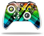 Rainbow Plaid - Decal Style Skin fits Microsoft XBOX One X and One S Wireless Controller