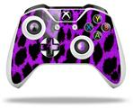 Purple Leopard - Decal Style Skin fits Microsoft XBOX One X and One S Wireless Controller