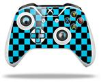 Checkers Blue - Decal Style Skin fits Microsoft XBOX One X and One S Wireless Controller