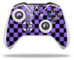 Skin Wrap for Microsoft XBOX One S / X Controller Checkers Purple