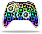 Skin Wrap for Microsoft XBOX One S / X Controller Hearts And Stars Rainbow