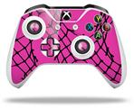 Skin Wrap for Microsoft XBOX One S / X Controller Ripped Fishnets Pink