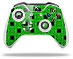 Skin Wrap for Microsoft XBOX One S / X Controller Criss Cross Green