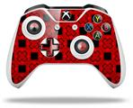 Skin Wrap for Microsoft XBOX One S / X Controller Criss Cross Red