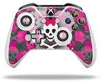 Skin Wrap for Microsoft XBOX One S / X Controller Princess Skull Heart Pink