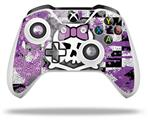 Skin Wrap for Microsoft XBOX One S / X Controller Princess Skull Purple