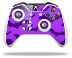 Deathrock Bats Purple - Decal Style Skin fits Microsoft XBOX One X and One S Wireless Controller