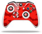 Skin Wrap for Microsoft XBOX One S / X Controller Deathrock Bats Red