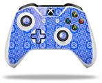 Skin Wrap for Microsoft XBOX One S / X Controller Gothic Punk Pattern Blue
