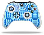 Skin Wrap for Microsoft XBOX One S / X Controller Skull And Crossbones Pattern Blue