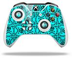 Skin Wrap for Microsoft XBOX One S / X Controller Skull Patch Pattern Blue