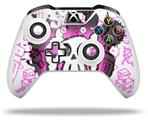 Skin Wrap for Microsoft XBOX One S / X Controller Cartoon Skull Pink