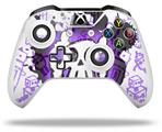 Skin Wrap for Microsoft XBOX One S / X Controller Cartoon Skull Purple