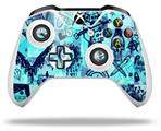 Scene Kid Sketches Blue - Decal Style Skin fits Microsoft XBOX One X and One S Wireless Controller