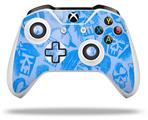 Skin Wrap for Microsoft XBOX One S / X Controller Skull Sketches Blue