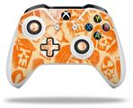 Skin Wrap for Microsoft XBOX One S / X Controller Skull Sketches Orange