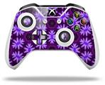 Skin Wrap for Microsoft XBOX One S / X Controller Abstract Floral Purple