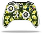 Skin Wrap for Microsoft XBOX One S / X Controller Abstract Floral Yellow