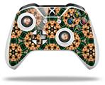Skin Wrap for Microsoft XBOX One S / X Controller Floral Pattern Orange