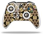 Skin Wrap for Microsoft XBOX One S / X Controller Leave Pattern 1 Brown