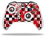 Checkerboard Splatter - Decal Style Skin fits Microsoft XBOX One X and One S Wireless Controller