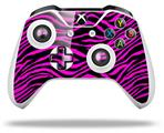 Pink Zebra - Decal Style Skin fits Microsoft XBOX One X and One S Wireless Controller