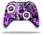 Purple Graffiti - Decal Style Skin fits Microsoft XBOX One X and One S Wireless Controller