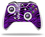 Purple Zebra - Decal Style Skin fits Microsoft XBOX One X and One S Wireless Controller