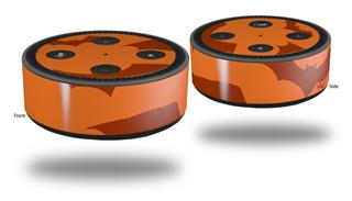 Skin Wrap Decal Set 2 Pack for Amazon Echo Dot 2 - Deathrock Bats Orange (2nd Generation ONLY - Echo NOT INCLUDED)
