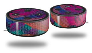 Skin Wrap Decal Set 2 Pack for Amazon Echo Dot 2 - Painting Brush Stroke (2nd Generation ONLY - Echo NOT INCLUDED)