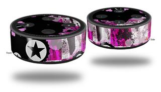 Skin Wrap Decal Set 2 Pack for Amazon Echo Dot 2 - Pink Star Splatter (2nd Generation ONLY - Echo NOT INCLUDED)
