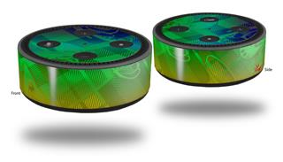 Skin Wrap Decal Set 2 Pack for Amazon Echo Dot 2 - Rainbow Butterflies (2nd Generation ONLY - Echo NOT INCLUDED)