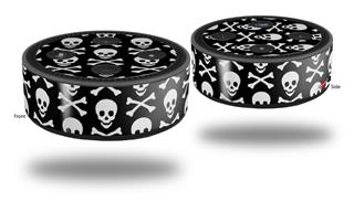Skin Wrap Decal Set 2 Pack for Amazon Echo Dot 2 - Skull and Crossbones Pattern (2nd Generation ONLY - Echo NOT INCLUDED)