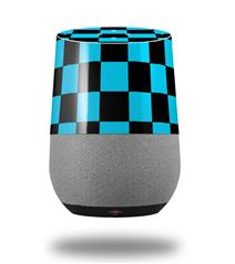 Decal Style Skin Wrap for Google Home Original - Checkers Blue (GOOGLE HOME NOT INCLUDED)