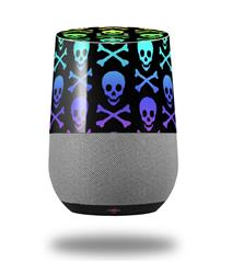 Decal Style Skin Wrap for Google Home Original - Skull and Crossbones Rainbow (GOOGLE HOME NOT INCLUDED)