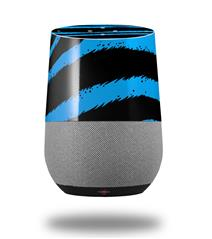 Decal Style Skin Wrap for Google Home Original - Zebra Blue (GOOGLE HOME NOT INCLUDED)