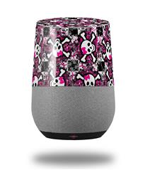 Decal Style Skin Wrap for Google Home Original - Splatter Girly Skull Pink (GOOGLE HOME NOT INCLUDED)