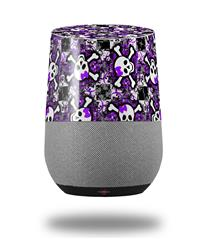 Decal Style Skin Wrap for Google Home Original - Splatter Girly Skull Purple (GOOGLE HOME NOT INCLUDED)