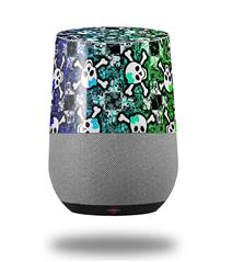 Decal Style Skin Wrap for Google Home Original - Splatter Girly Skull Rainbow (GOOGLE HOME NOT INCLUDED)