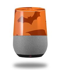 Decal Style Skin Wrap for Google Home Original - Deathrock Bats Orange (GOOGLE HOME NOT INCLUDED)